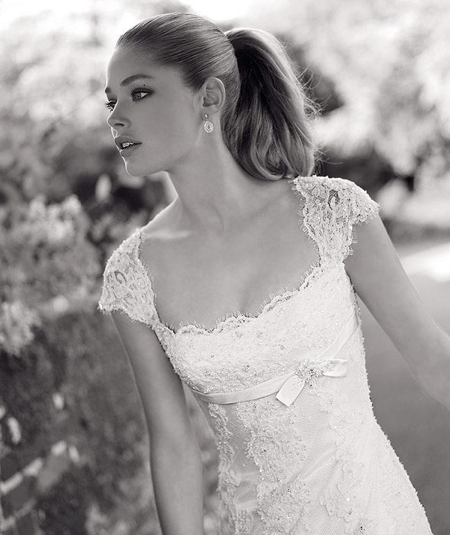 Escote vestido novia